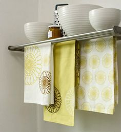 Yellow Kitchen Tea Towels Make a Great Accent in any Kitchen.