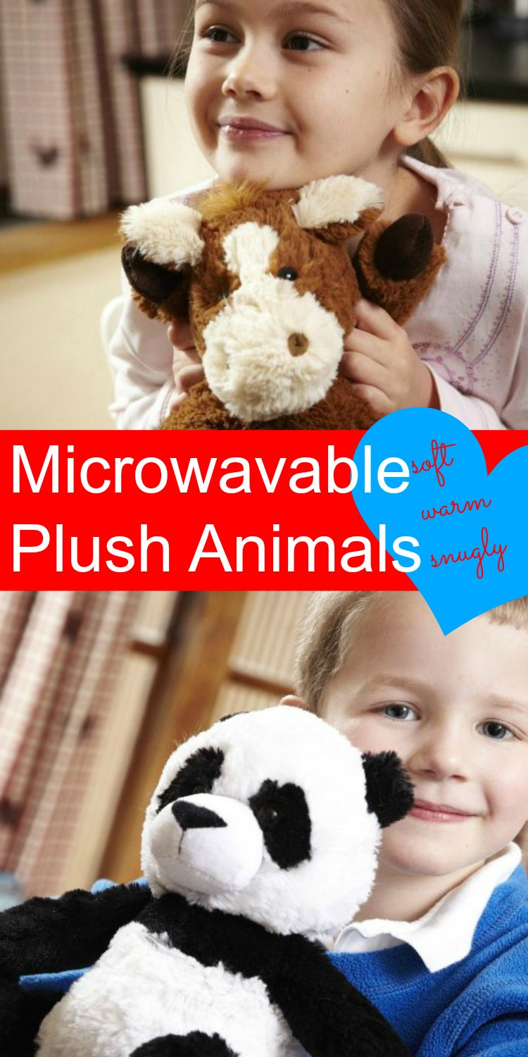 Heated Stuff Animals - Pop in microwave for soft, warm, and snugly bedtimes.