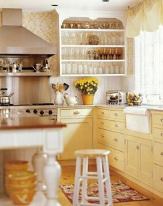 Yellow and White Kitchen Ideas