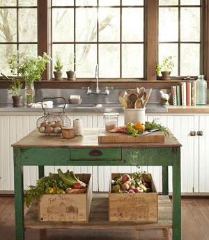 How to create a subtle green and white kitchen?