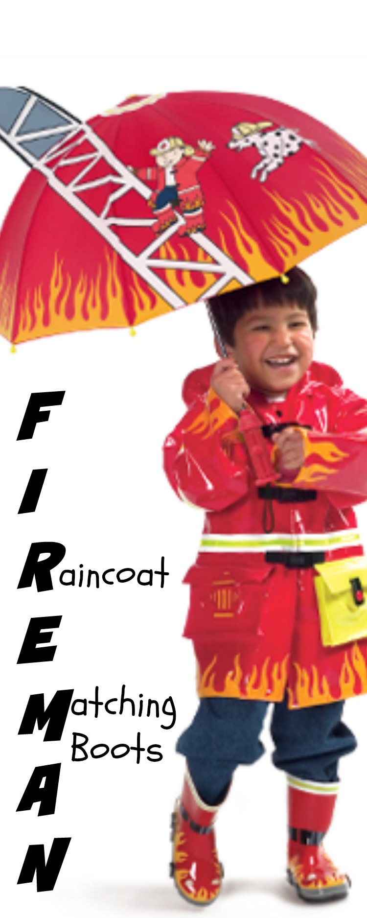 Fireman Children Raincoats with Matching Boots