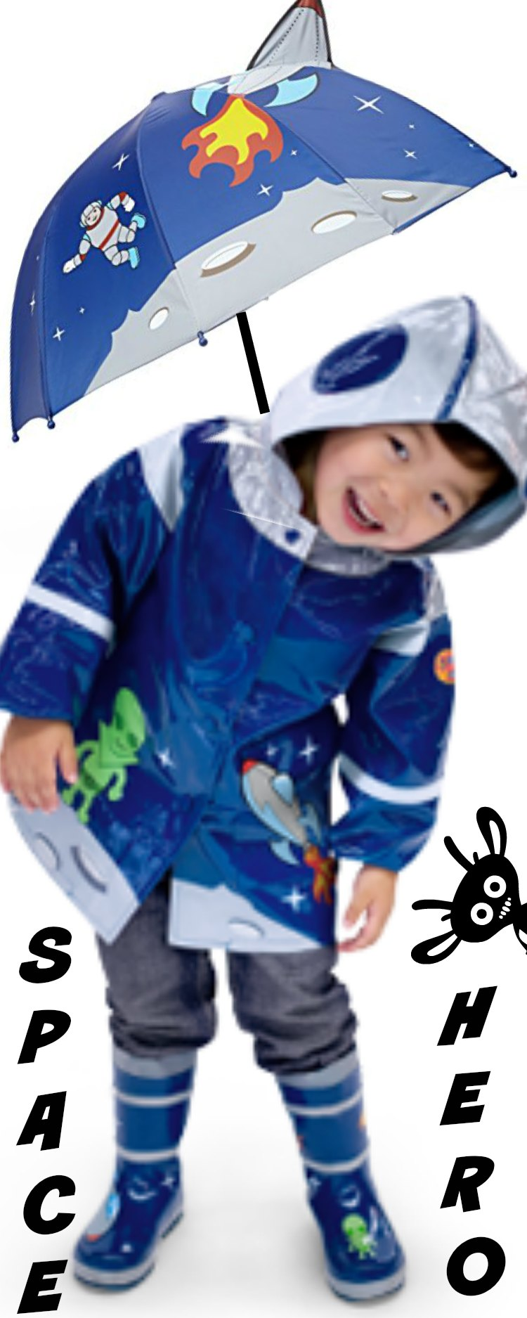 Pirate Children Raincoats with Matching Boots