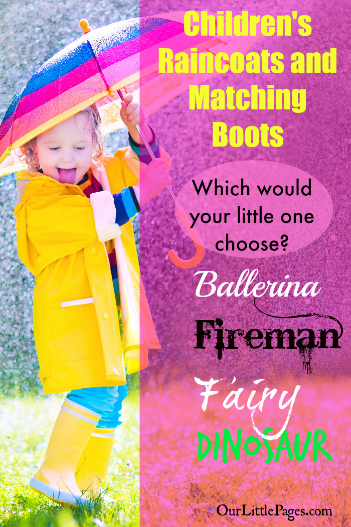 Children's Raincoats and Matching Boots