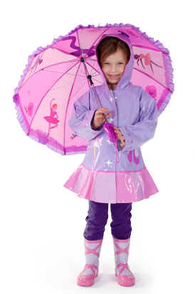 Kidorable Ballarina Raincoat with matching boots