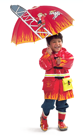 Kidorable Fireman Raincoat with matching boots