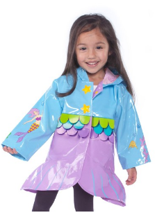 Kidorable Mermaid Rain Coat with matchin boots