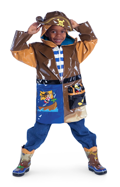 Kidorable Pirate Rain Coat with matching boots