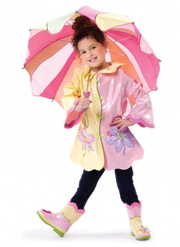 Lotus Flower Rain Coat with matching Boots