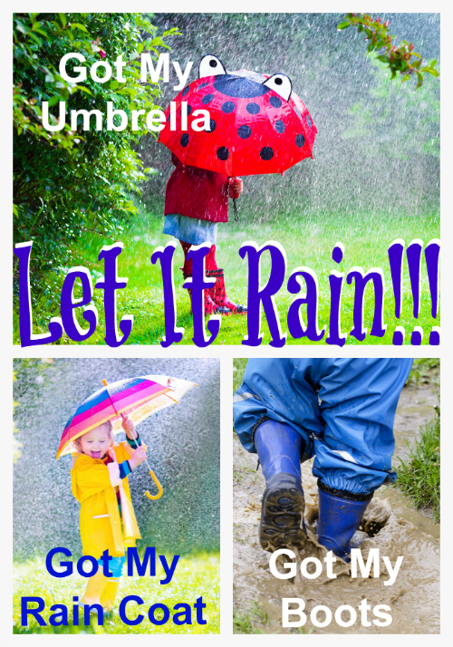 Rain Coats for Kids with Matching Boots