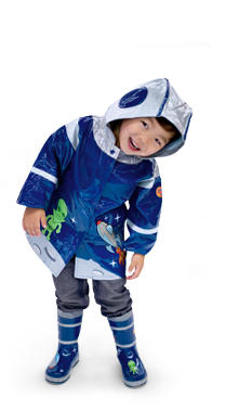 Space Hero Kidorable Rain Coat and Matching Boots