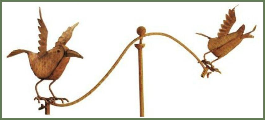 Bird Balancing Garden Stakes