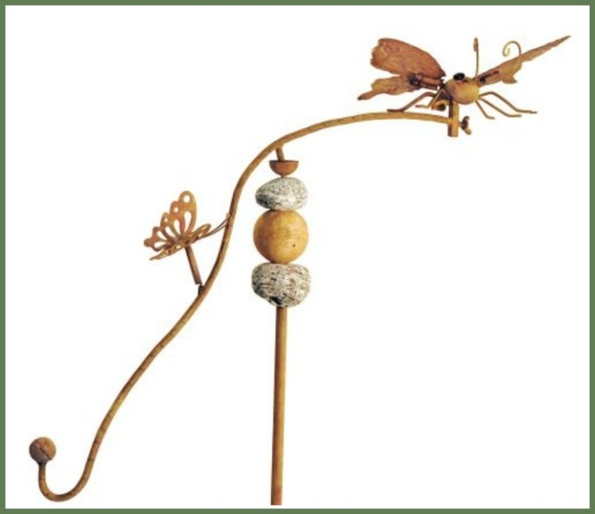 Butterflies and Dragonflies Balancing Garden Stakes