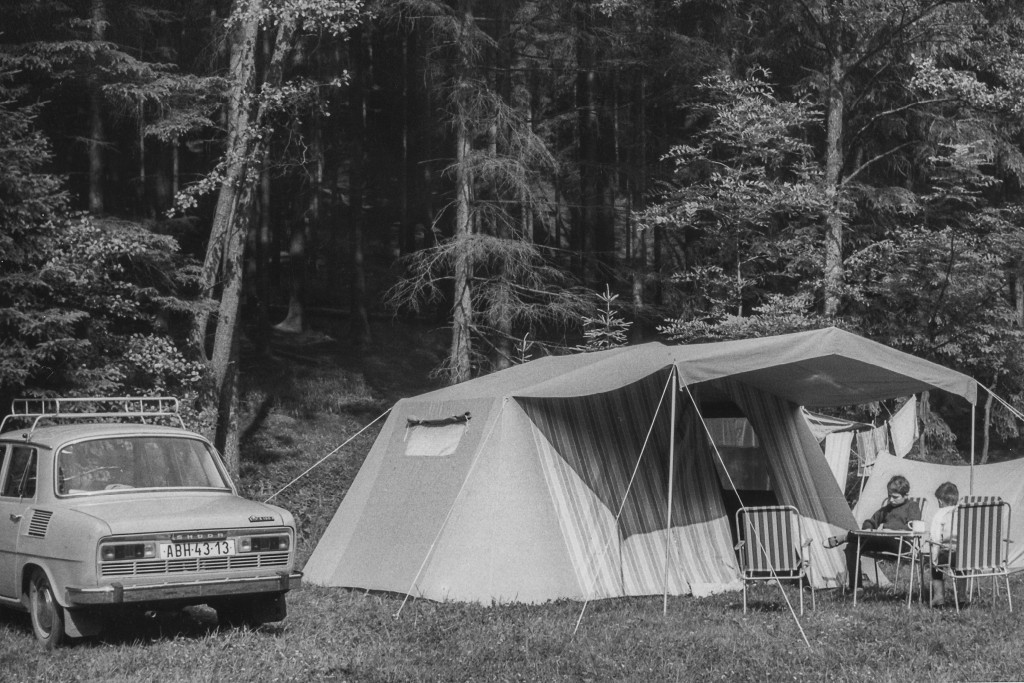 Camping as a kid