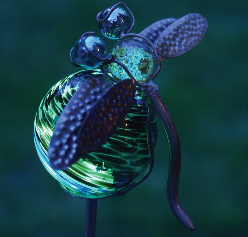 Solar Yard Ornaments - Illuminairie Dragonfly Stake