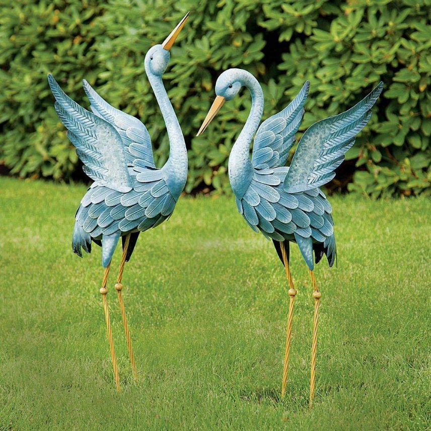 Metal Garden Bird Scultpures