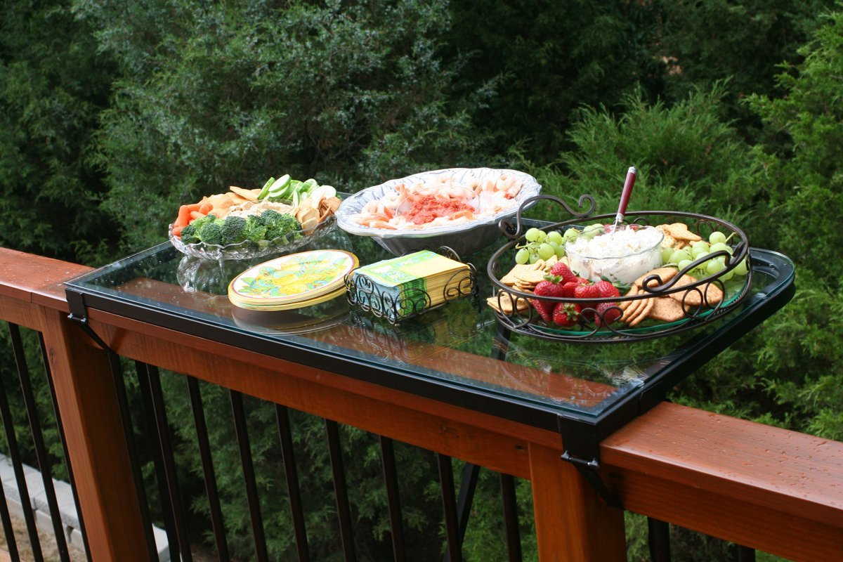 Deck Railing Tables
