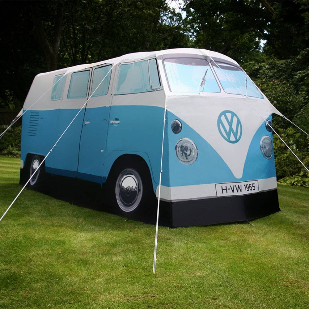 vw camper tent blue