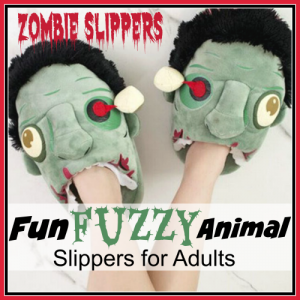 Fuzzy Animal Slippers for Adults