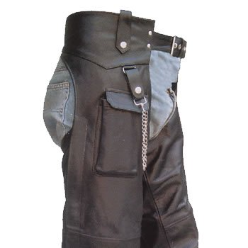 Mens Motorcycle Leather Chaps