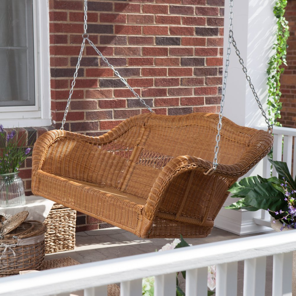Resin Wicker Porch Swings