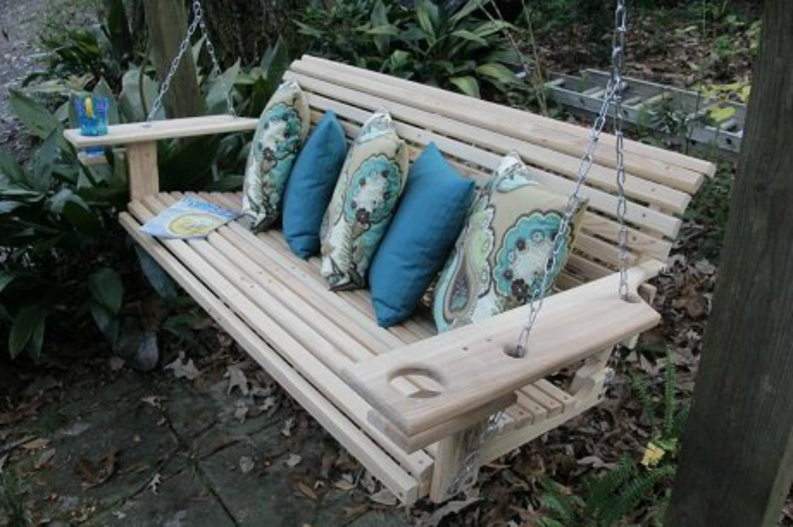 Cypress Wood Porch Swing