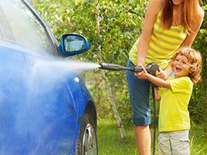 pressure wash car