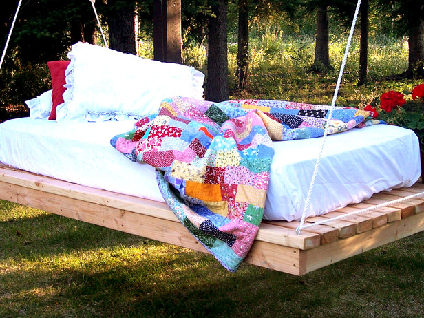 DIY How To Make A Hanging Bed