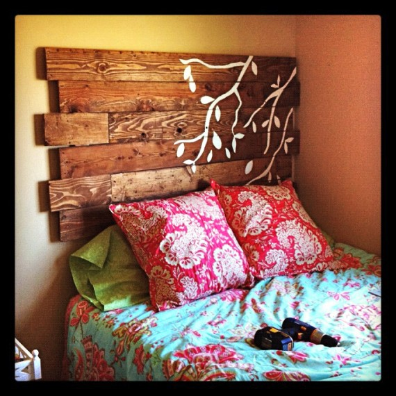 diy wood pallet headboard diy headboard from wooden pallets