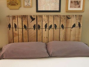 DIY Headboard From Wooden Pallets