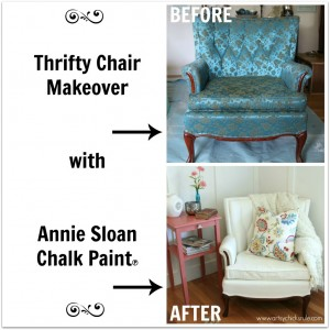 Before and After Painted Chair