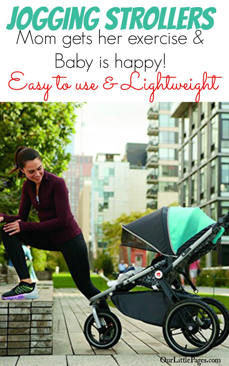 Jogging Strollers - Mom gets her exercise and baby is happy