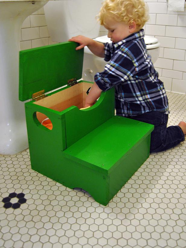 DIY Step Stool With Built-in Storage