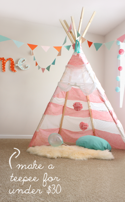 DIY No Sew Teepee For Less Than $30: Instructions Inside