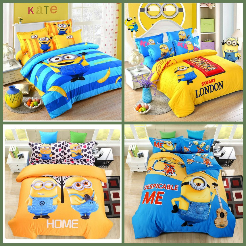 Cute Minion Bedroom Comforters