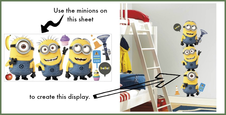 Minion Bedroom Accessories - Wall Decals