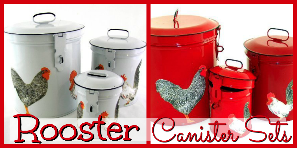 Rooster Canisters for Kitchens