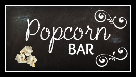 Backyard Movie Night Popcorn Bar