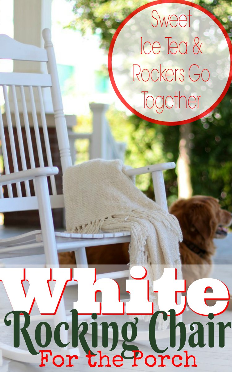 White Rocking Chairs for the Front Porch