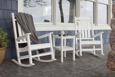 southern style white rocking chairs for the porch come. Black Bedroom Furniture Sets. Home Design Ideas
