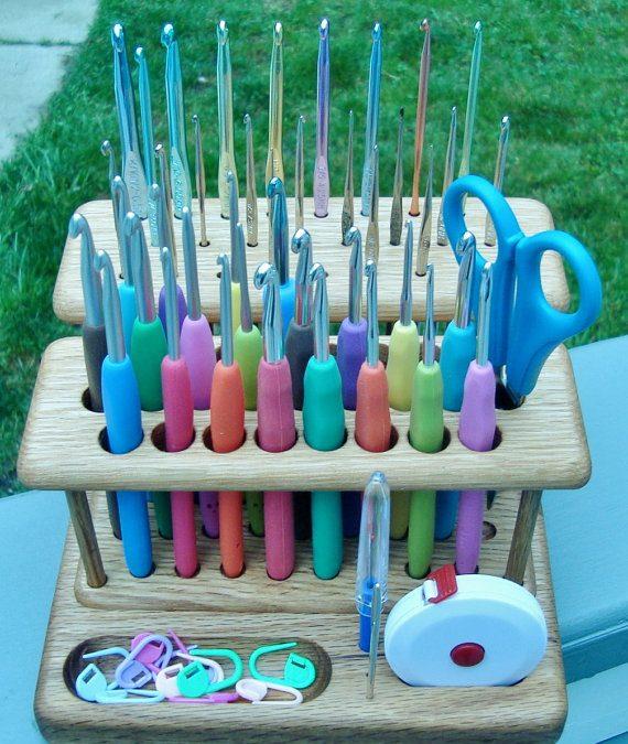 Wood Crochet Hook Holder or Organizer