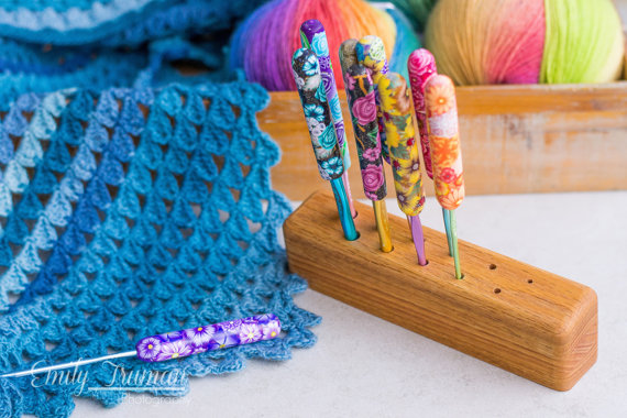 Wooden Crochet Hook Stand