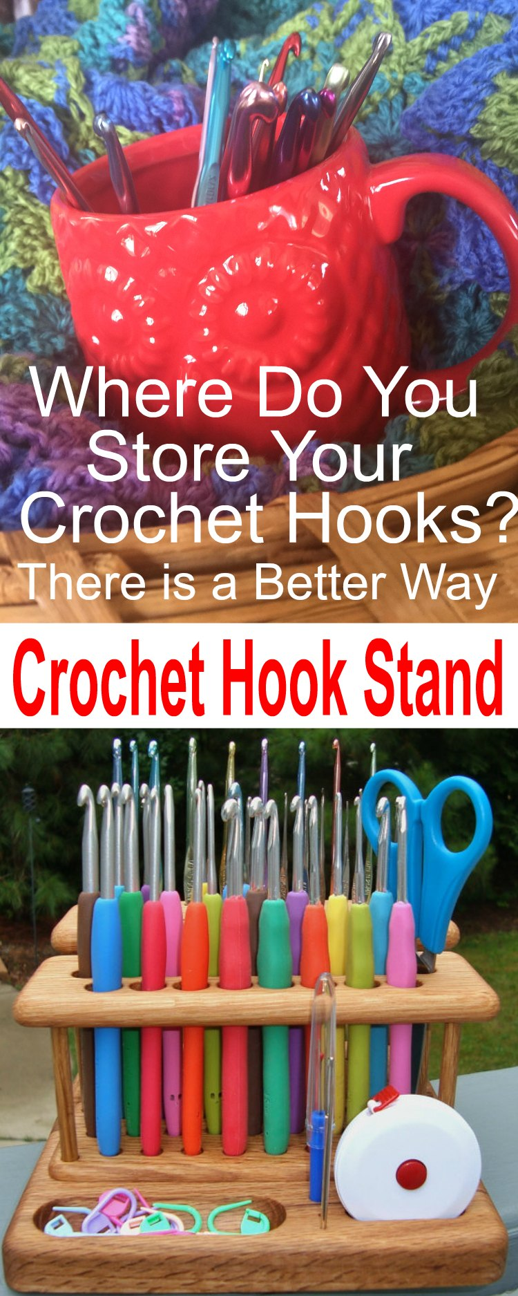 Wooden Crochet Hook Holder
