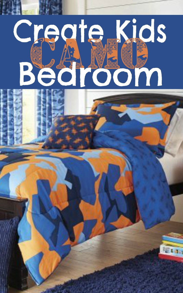How to create a kids camo bedroom perfect for boys and girls for Camouflage bedroom ideas for kids