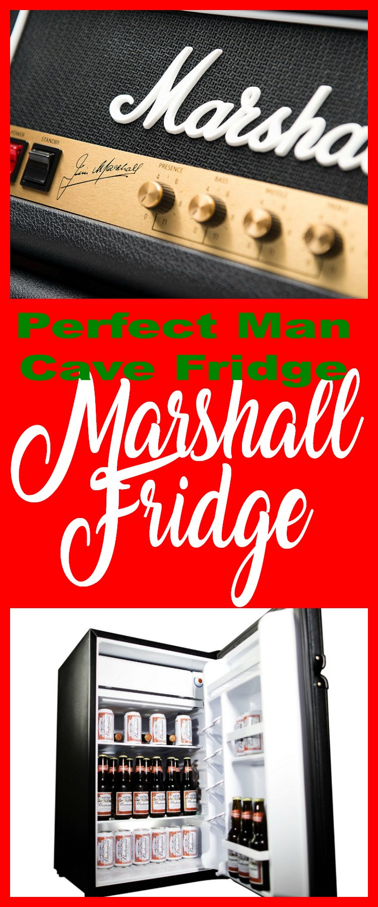 Marshall Fridge - Perfect Man Cave Fridge