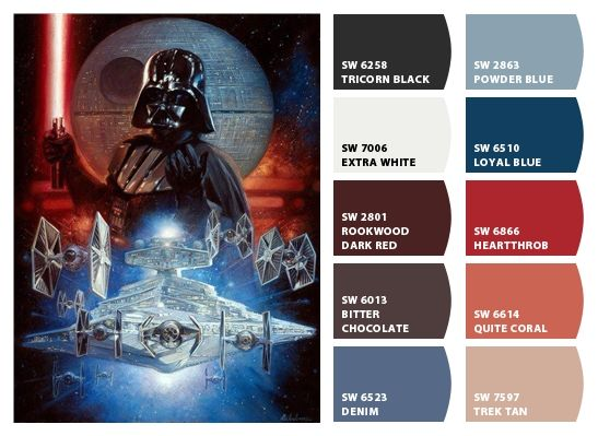 Shermin Williams Star Wars Pain Chips