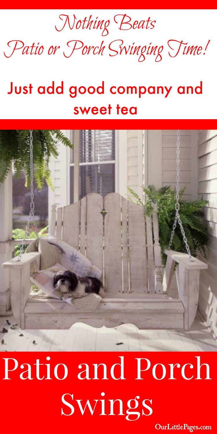 Patio and Porch Swing - Just add good company and sweet tea