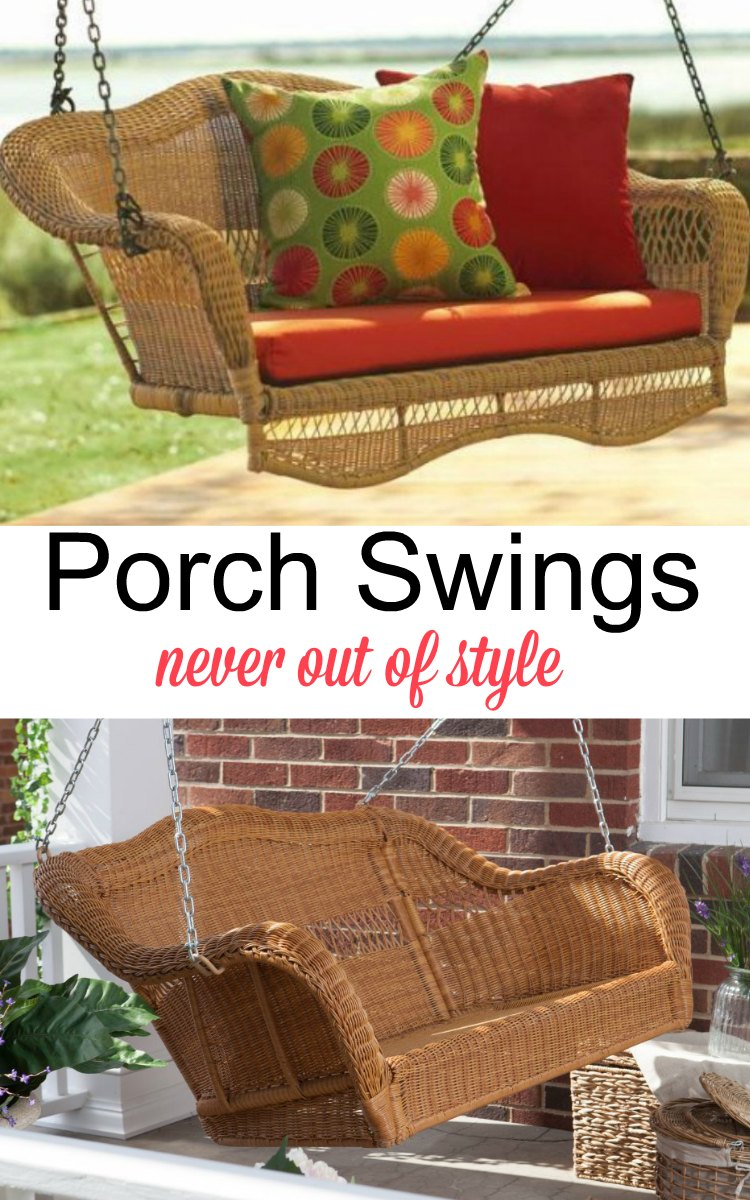 Porch Swings Never Out of Style